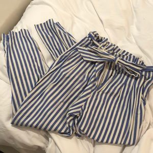 Zara XS striped high wait capri